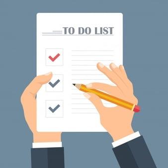 فهرست فعالیتها